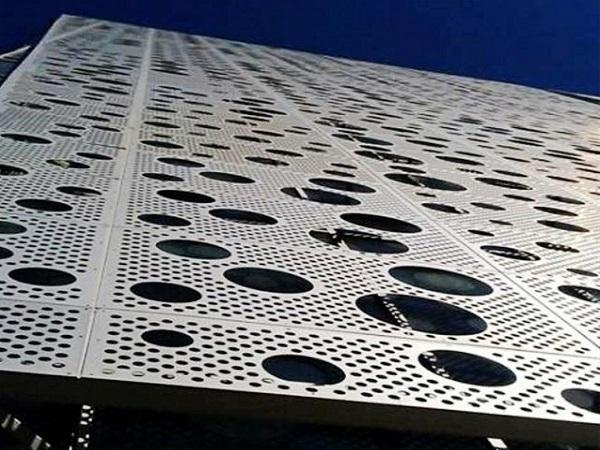 穿孔氟碳鋁單板幕墻