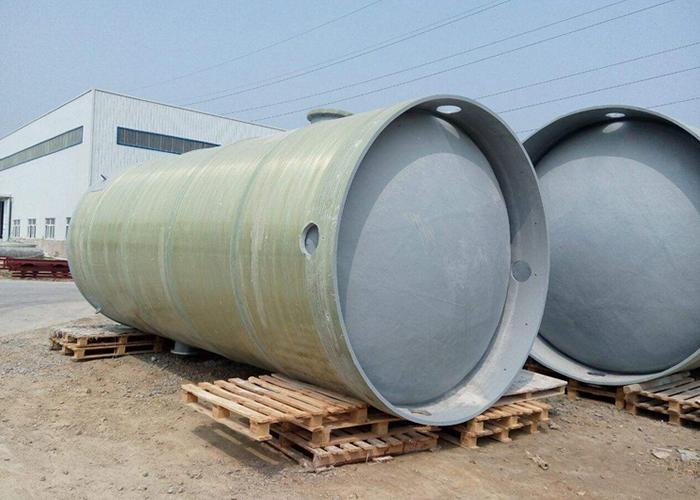 成品玻璃钢污水提升泵站