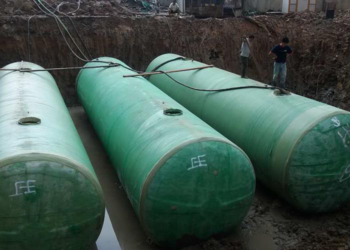 福州东部新城9#地块居民化粪池安装