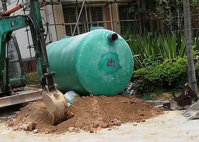 福州城乡建总综合大楼下水道化粪池安装