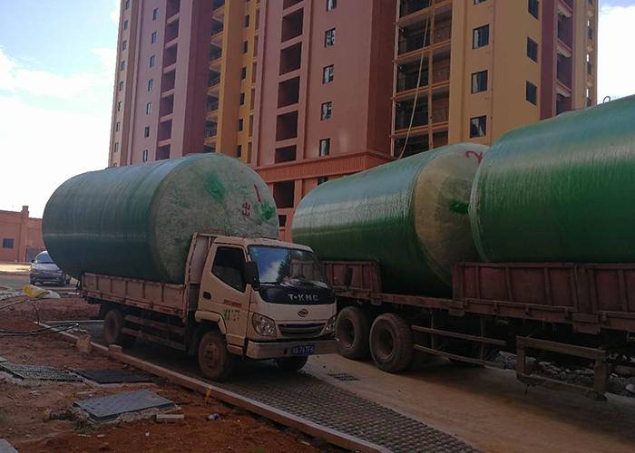 福建省师范大学地埋式一体化玻璃钢化粪池安装