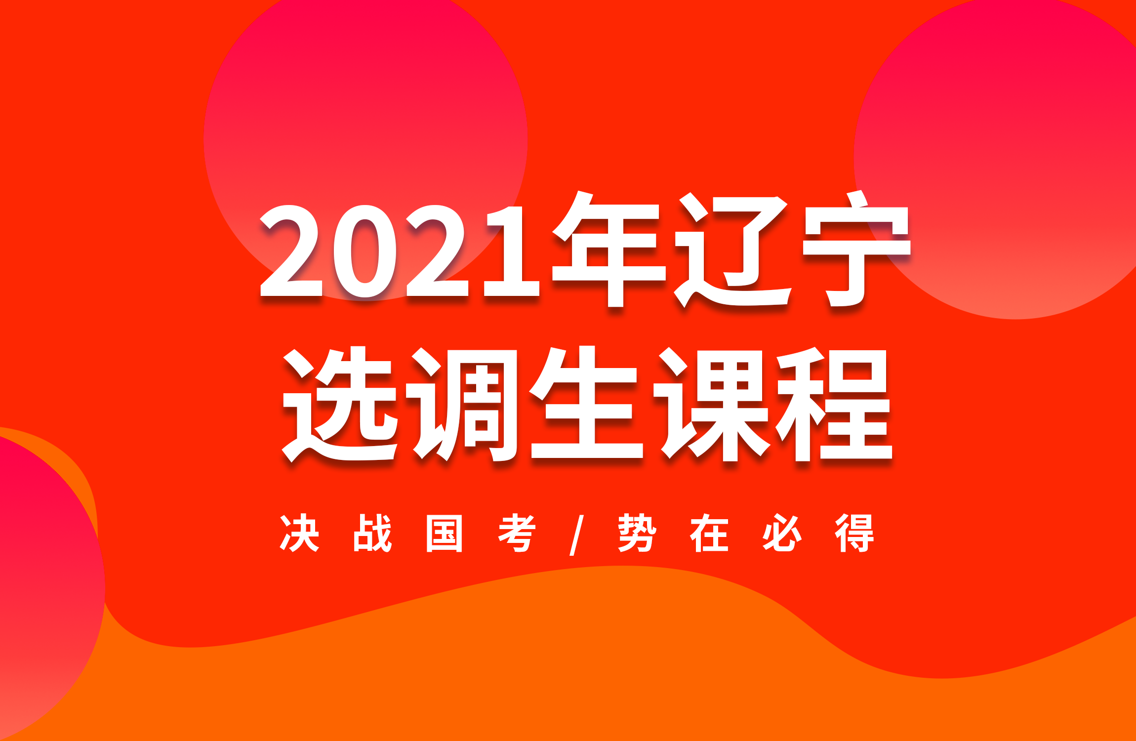 2021年辽宁选调生课程