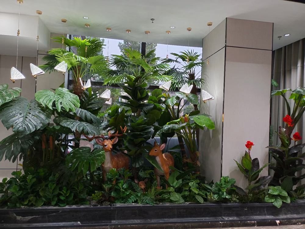 商场仿真植物工程