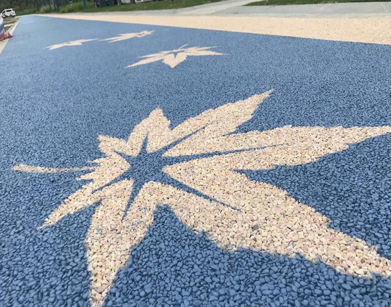 膠粘石透水路面