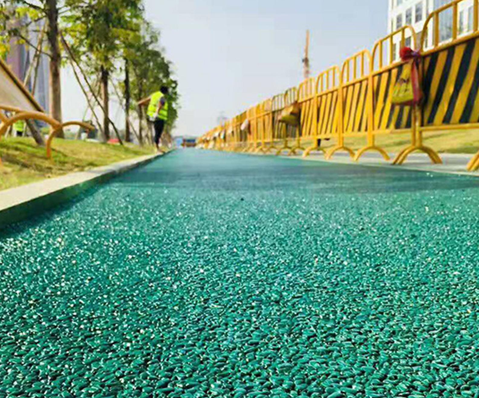 彩色透水路面施工