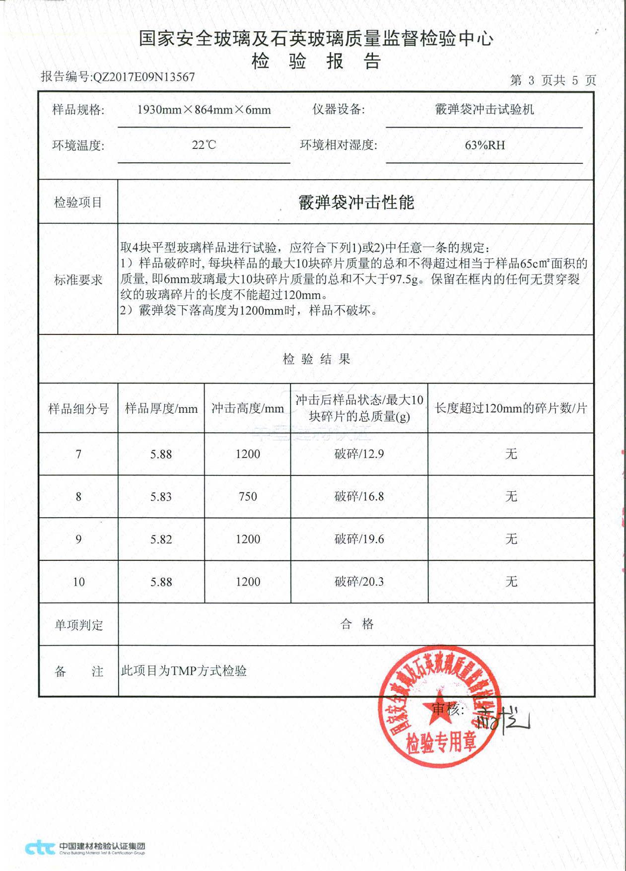 建筑钢化玻璃认证证书