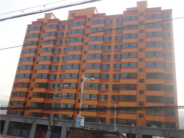 榆林多彩涂料用于吴堡住宅小区
