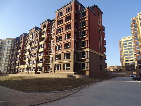 榆林真石漆用于紫龙华庭住宅小区