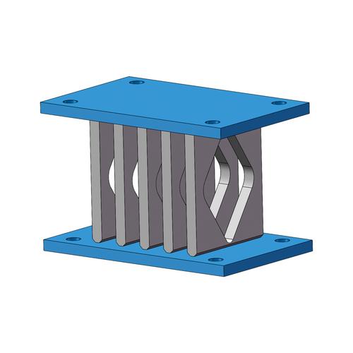 弯曲型软钢阻尼器