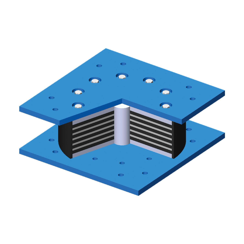建筑铅芯橡胶支座I型(LRB-I)