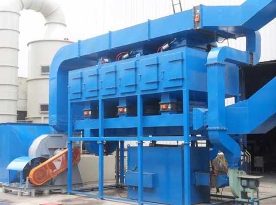 蓄热式热氧化炉(RTO)对废气成分选择性小,从而具有一定优势