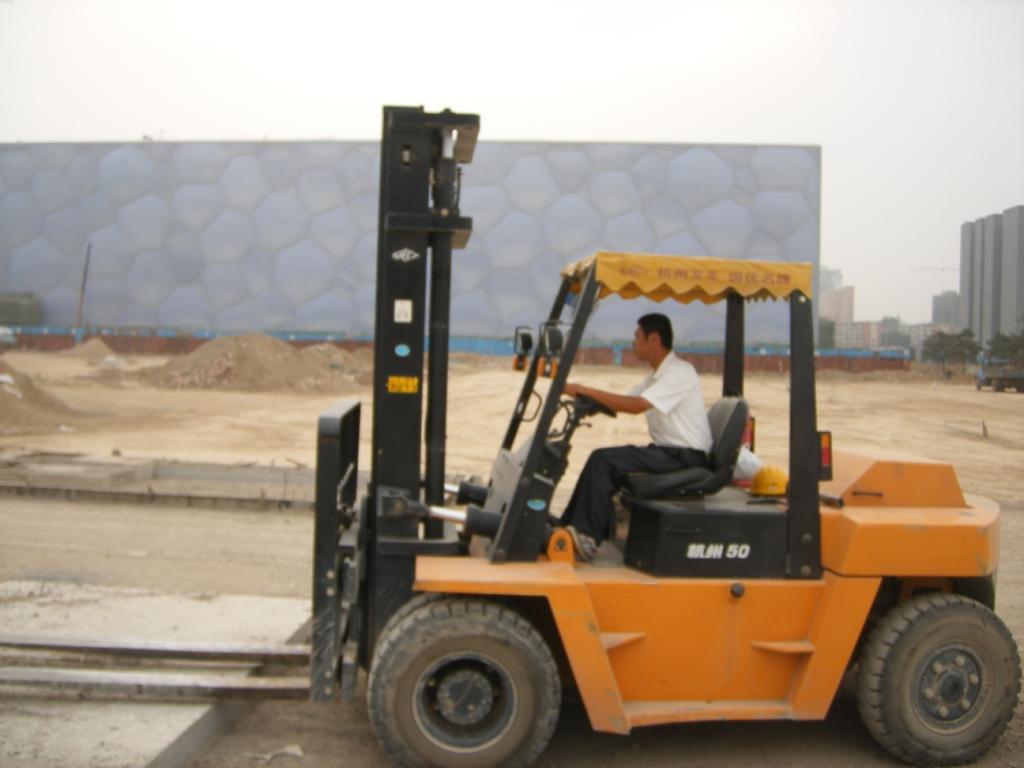 杭州叉车在水立方建设中