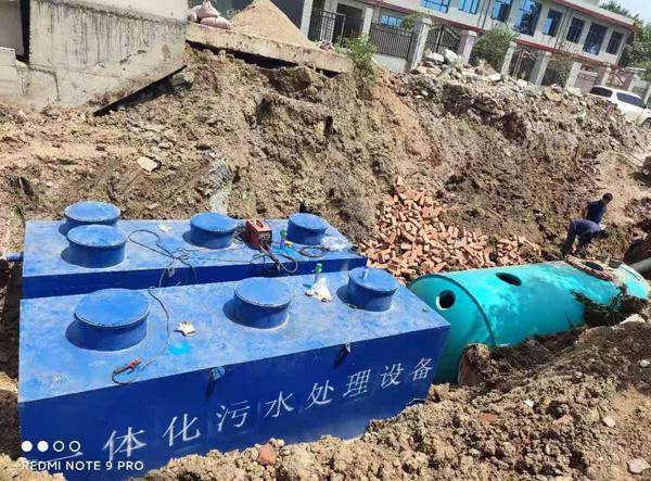 焦作一体化污水处理设备施工现场