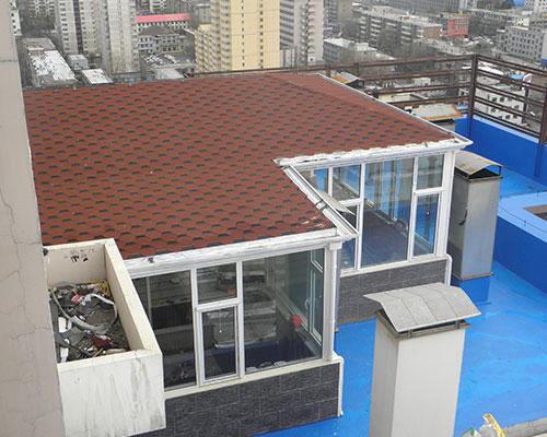 屋顶玻璃阳光房