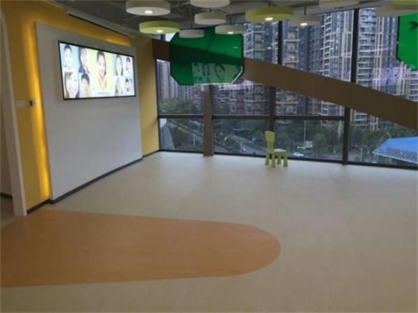 成都美容院PVC塑膠地板安裝