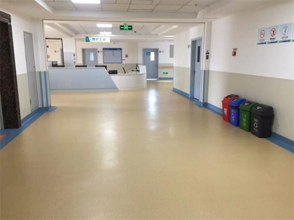 希尔医院pvc塑胶地板施工