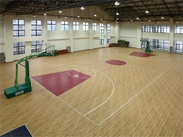 学校篮球场PVC地板施工