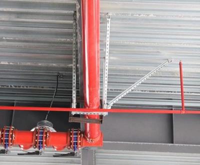 单管侧向水管抗震支架