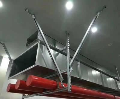 组合管双向抗震支吊架安装方案图