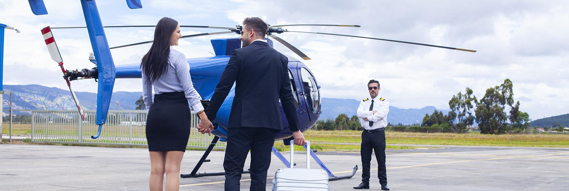 直升机空中婚礼