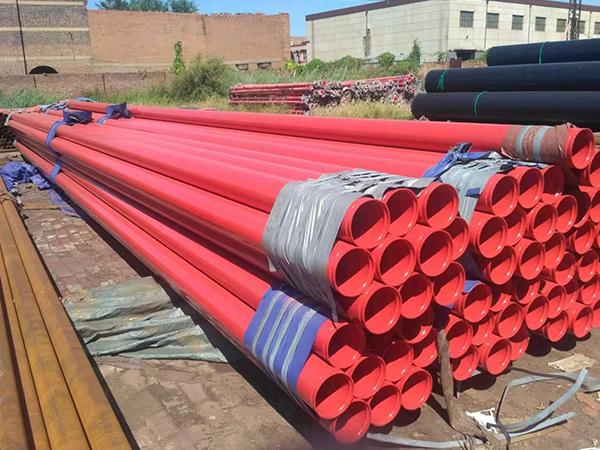 红色消防涂塑钢管