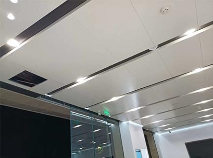 办公吊顶铝单板安装