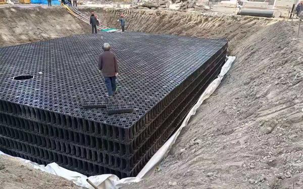 雨水收集模块建设施工