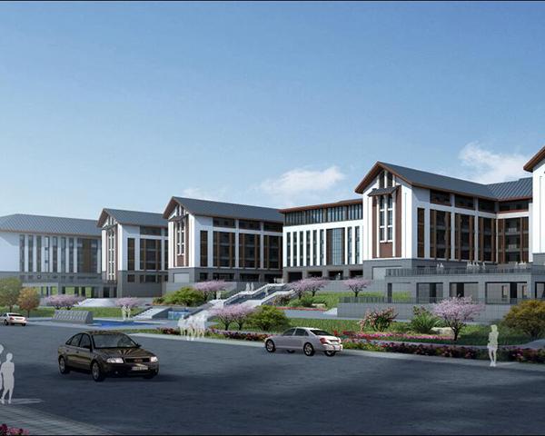 铝单板教学中心建筑效果图
