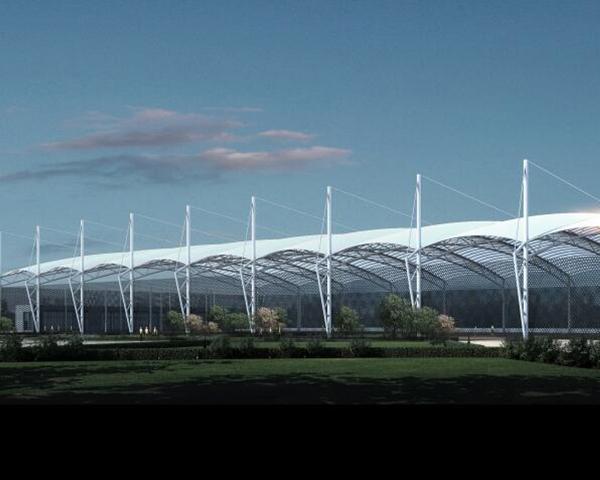 铝单板网球馆建筑效果图