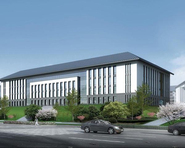 铝单板行政后勤服务中心建筑效果图