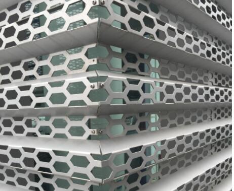 冲孔氟碳铝单板-潮流建筑装饰材料