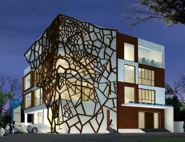 铝单板是一种热门的建筑装饰材料