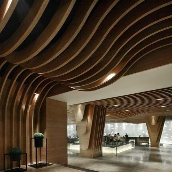 造型优雅的木纹铝方通,商家装修首 选!
