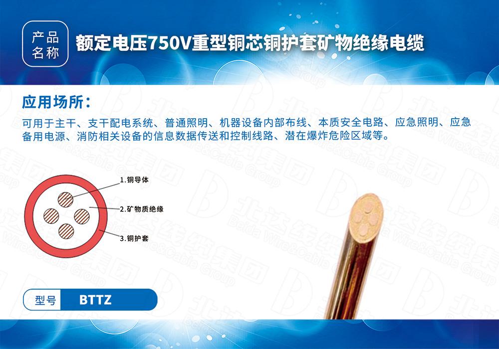 新型防火电缆系列BTTZ