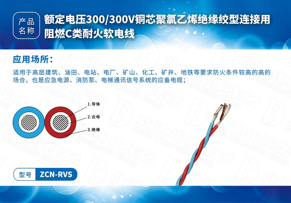 橡塑线缆系列ZCN-RVS