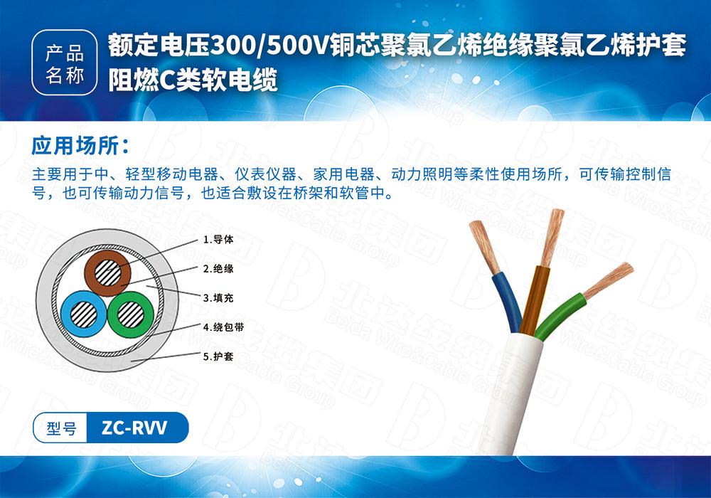 橡塑线缆系列ZC-RVV
