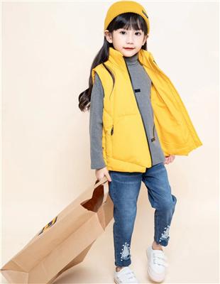 囧小孩黄色背心外套