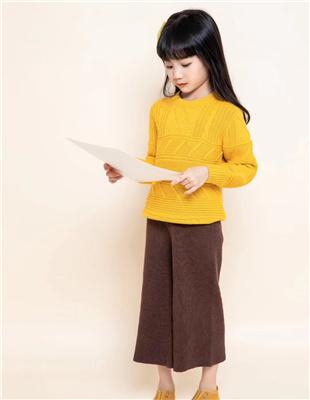 囧小孩黄色时尚毛衣