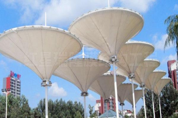吊顶式膜结构景观棚