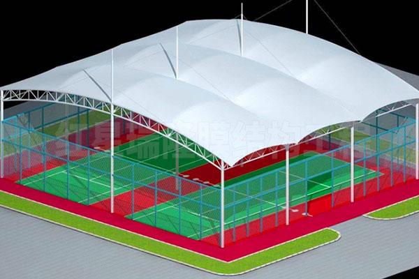 昆明羽毛球场馆膜结构