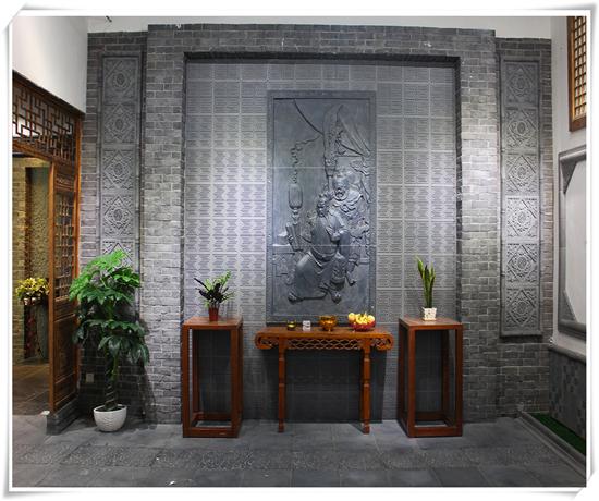 古建砖雕影壁