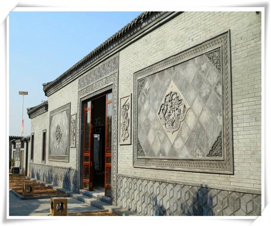 古建筑方形砖雕