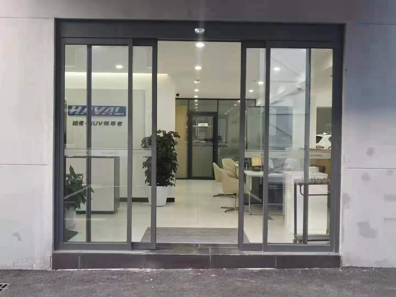 电动玻璃感应门