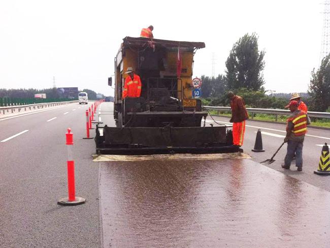 道路彩色沥青路面施工