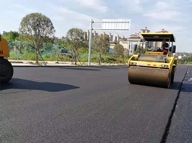 沥青道路施工
