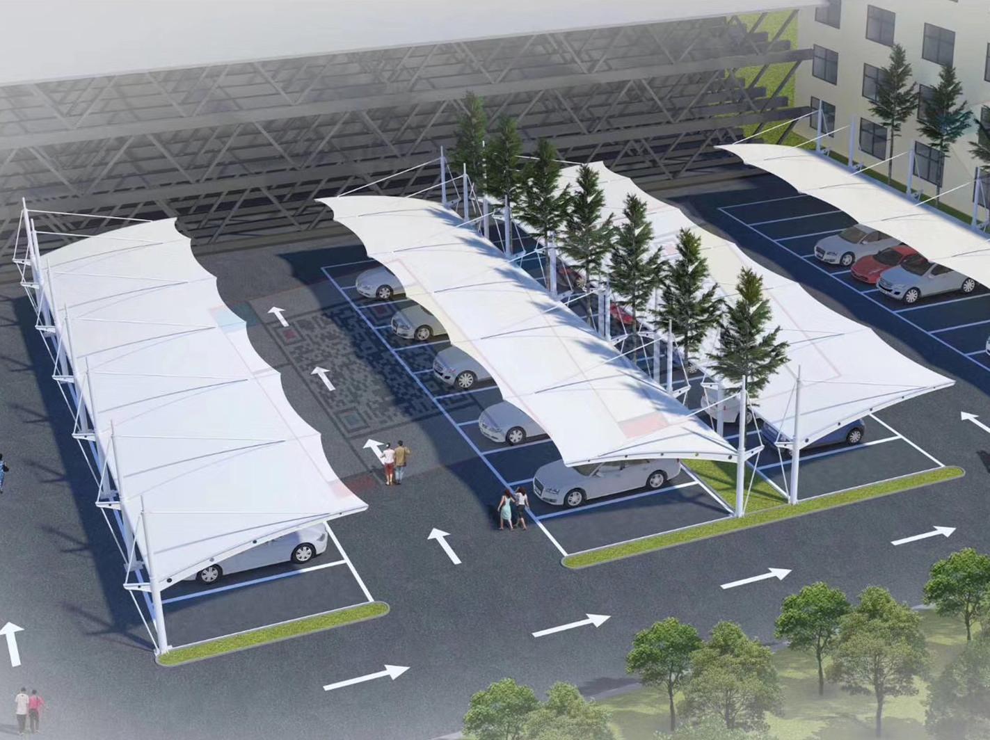 停车棚膜结构汽车棚