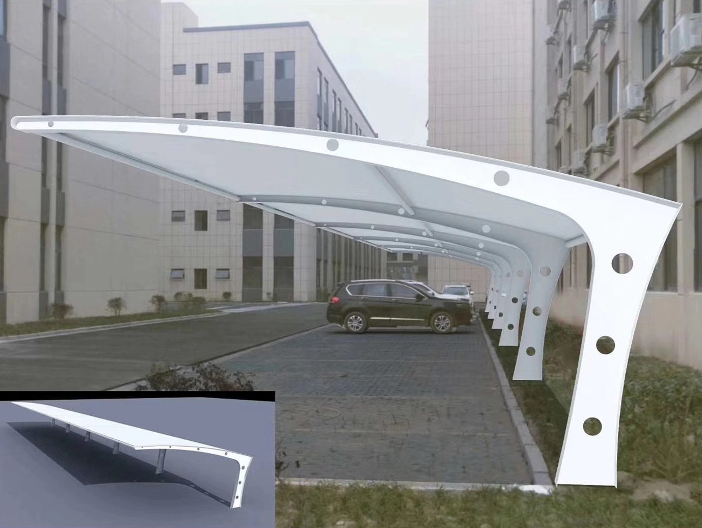 定制膜结构停车棚