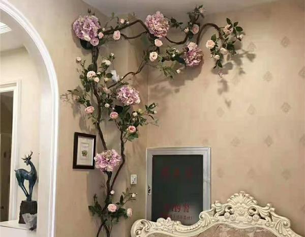 墙面花艺软装案例