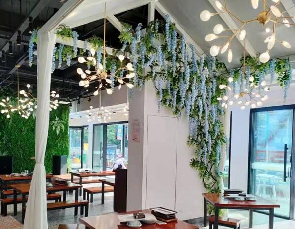 南阳餐厅花艺软装