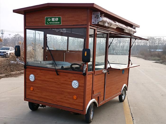 仿古木屋移动餐车